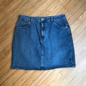 TOPSHOP Moto mini denim skirt